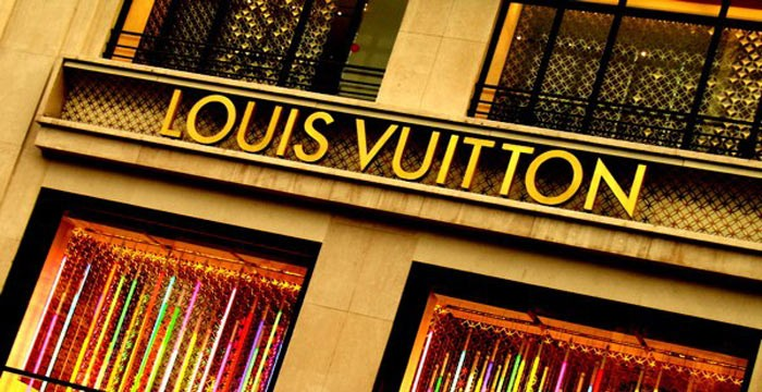 Louis VuittonLouis Vuitton Malletier, commonly referred to as Louis Vuitton, or shortened to LV, is a French fashion house founded in 1854 by Louis Vuitton. The label\'s LV monogram appears on most of its products, ranging from luxury trunks and leather goods to ready-to-wear, shoes, watches, jewelry, accessories, sunglasses, and books. Louis Vuitton is one of the world\'s leading international fashion houses; it sells its products through standalone boutiques, lease departments in high-end department stores, and through the e-commerce section of its website. For six consecutive years (2006–2012) Louis Vuitton has been named the world\'s most valuable luxury brand. Its 2012 valuation was 25.9 billion USD...